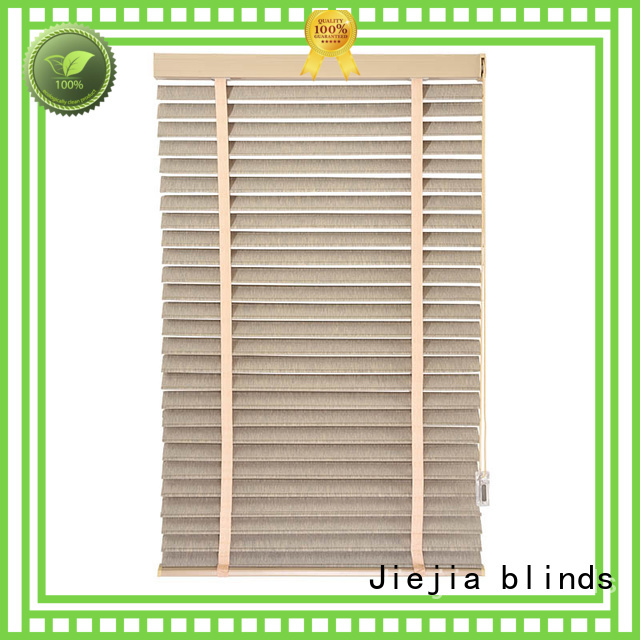 Jiejia custom window shade venetian blinds flameproof restaurant