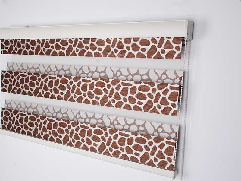 Stardeco Custom Leopard Pattern Blackout Zebra Shades Window Blinds