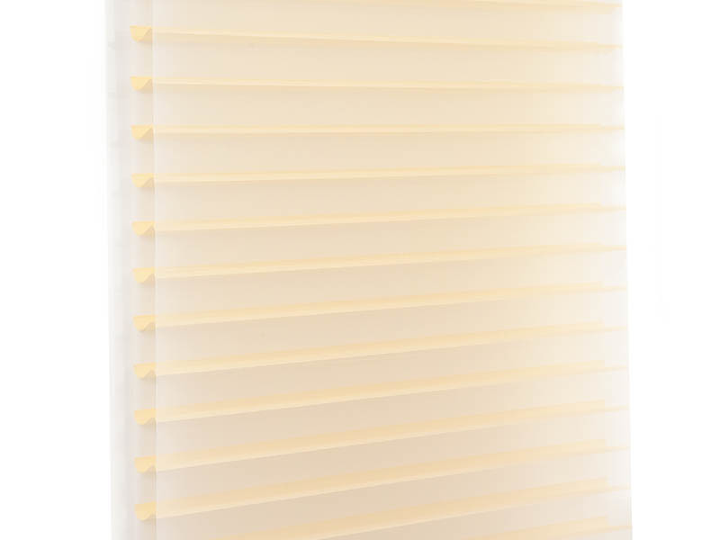 New horizontal sheer blinds french windows house