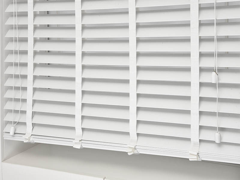 Home Decor Manual Ladder Tape Wooden Vertical Venetian Blinds