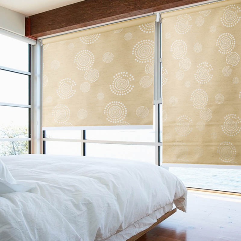 Adjustable Blackout Blind Stardeco Jacquard Blackout Electric Roller Blind For Hotel-19