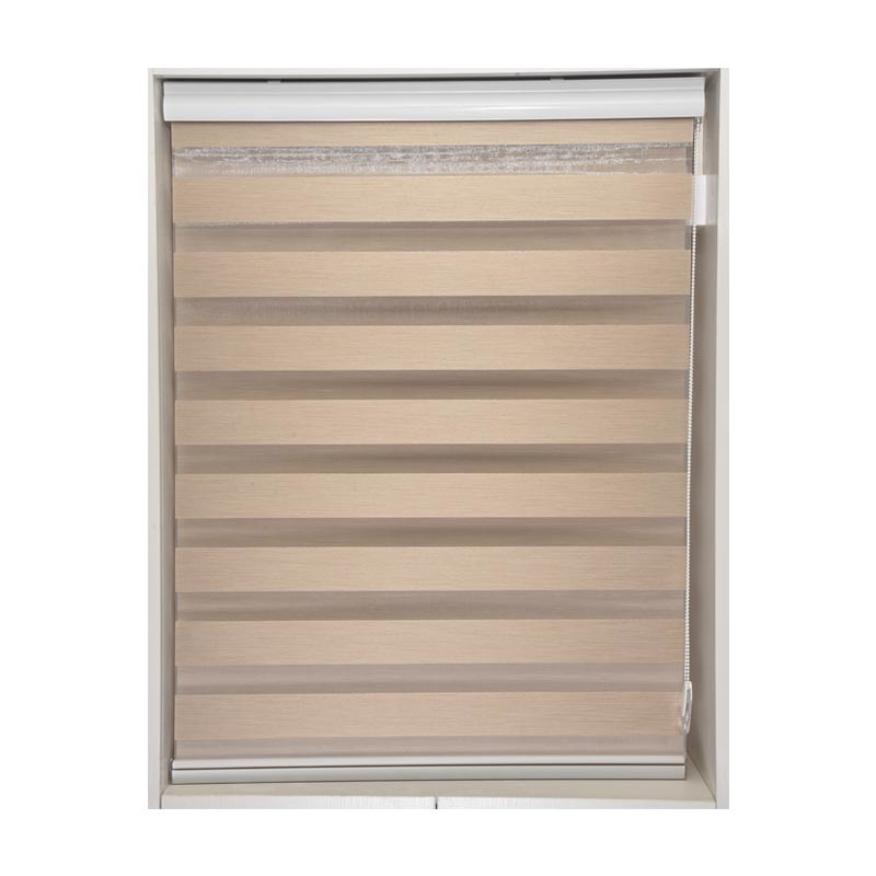 vertical window shutters & zebra blind curtain