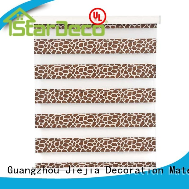 Jiejia zebra window shades flameproof restaurant