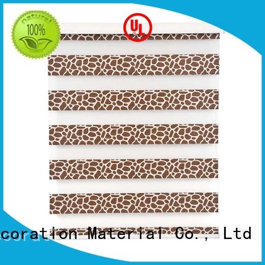 Stardeco Custom Leopard Pattern Blackout Zebra Shades Window Blinds