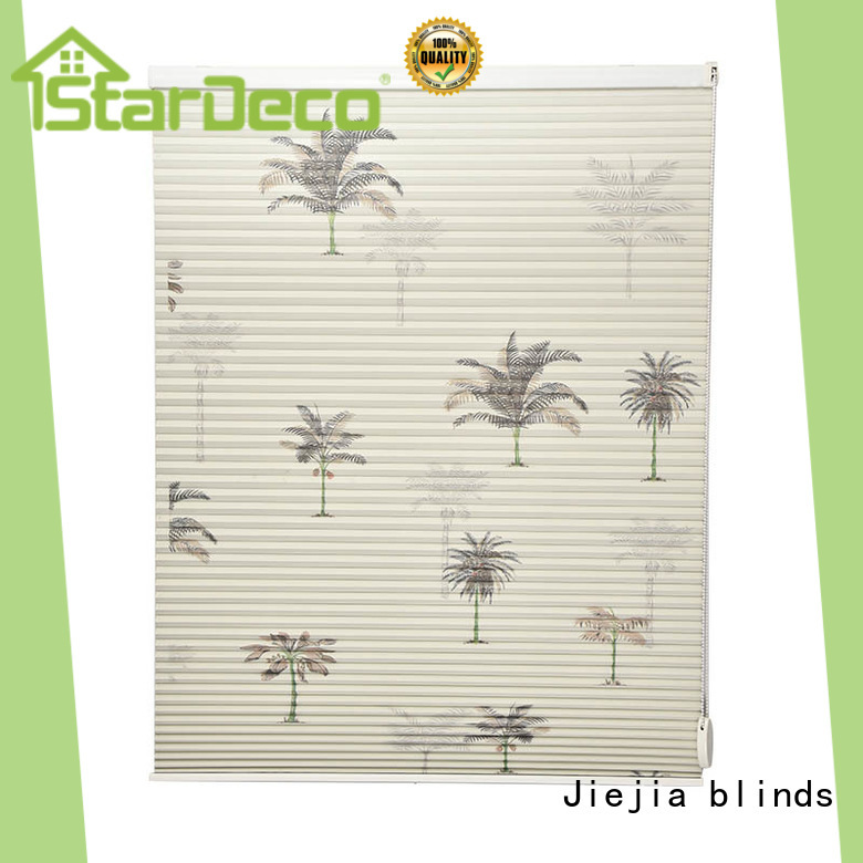 Jiejia cordless honeycomb blinds factory price room