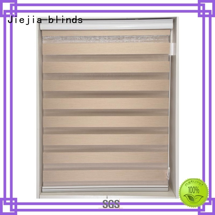Jiejia zebra curtains for windows motorized office