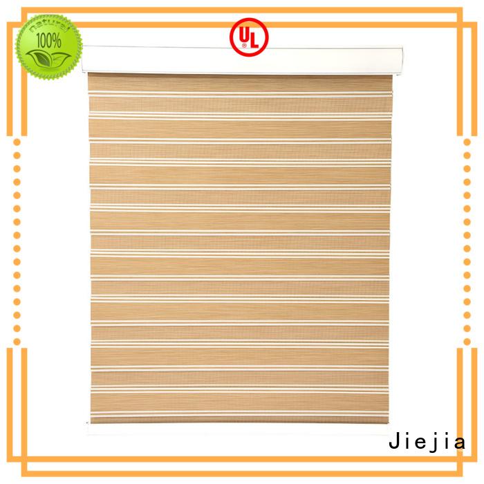 Jiejia horizental zebra blind curtain motorized office