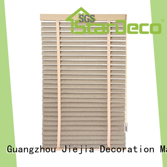 Jiejia custom wooden venetian shutters for business house