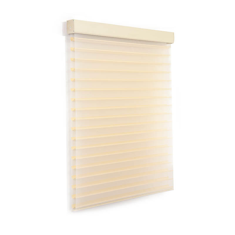 New horizontal sheer blinds french windows house-3