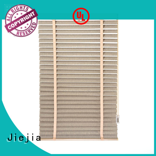 Jiejia manual ladder timber venetian blinds flameproof restaurant