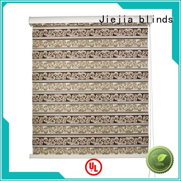 Jiejia new design zebra curtains for windows motorized house