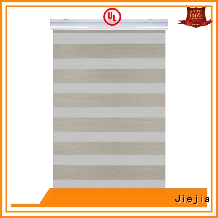 Jiejia zebra blackout blinds flameproof restaurant