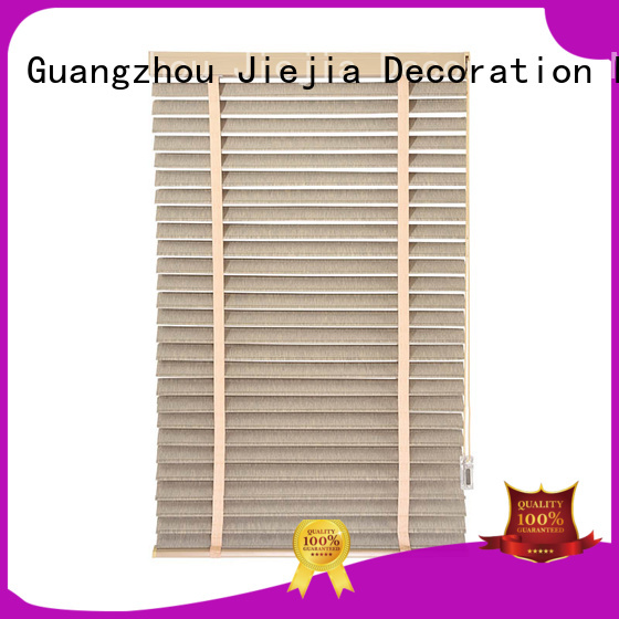 Jiejia Latest grey wooden blinds Supply room