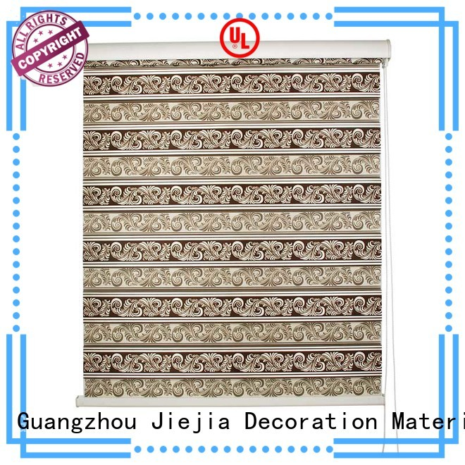 Jiejia manufacturer zebra blind curtain motorized office