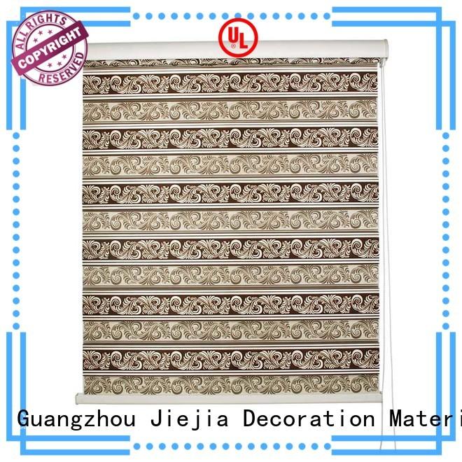 Jiejia manufacturer zebra blind curtain motorized office