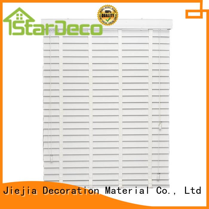 Jiejia Wholesale wide white wooden blinds anti-uv room