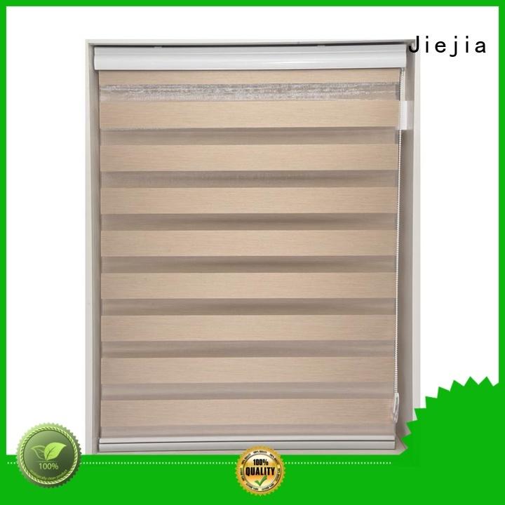 Jiejia horizental motorized zebra blinds office