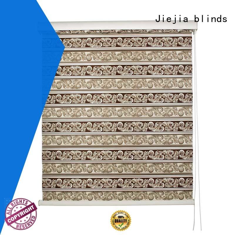 Jiejia zebra curtains for windows motorized restaurant