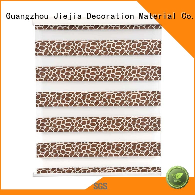 Jiejia lime green blackout roller blinds flameproof restaurant