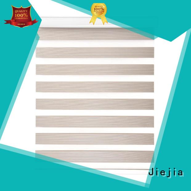Jiejia custom zebra window shades flameproof restaurant