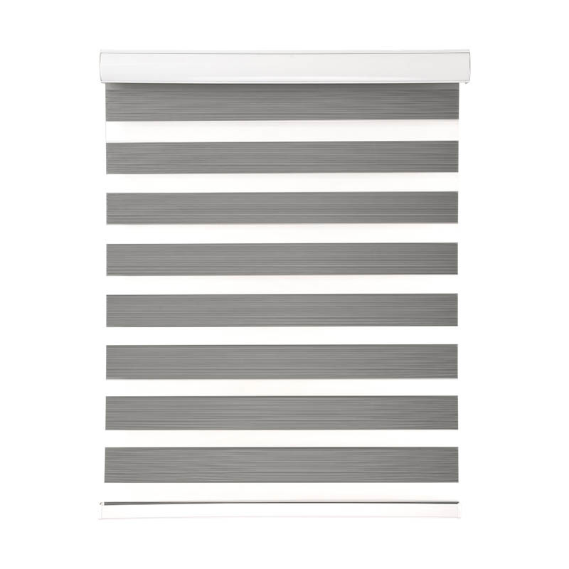 High Quality Blackout Polyester Motorized Rainbow Zebra Blinds Wholesale