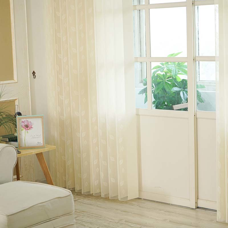 Stardeco Remote Control Leaf Pattern Vertical Blinds On Windows