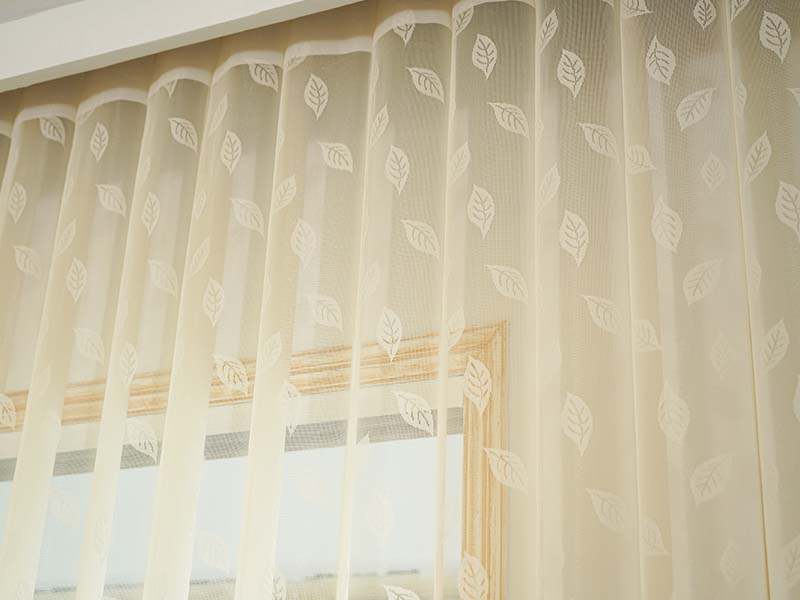Stardeco Remote Control Leaf Pattern Vertical Blinds On Windows-4