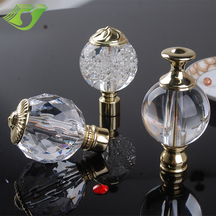 High quality curtain accessories extendable acrylic curtain rods easy install heavy-duty for home decoration