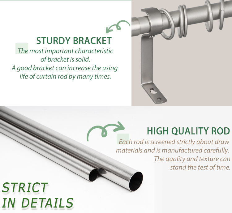 Adjustable custom fancy expandable curtain rod