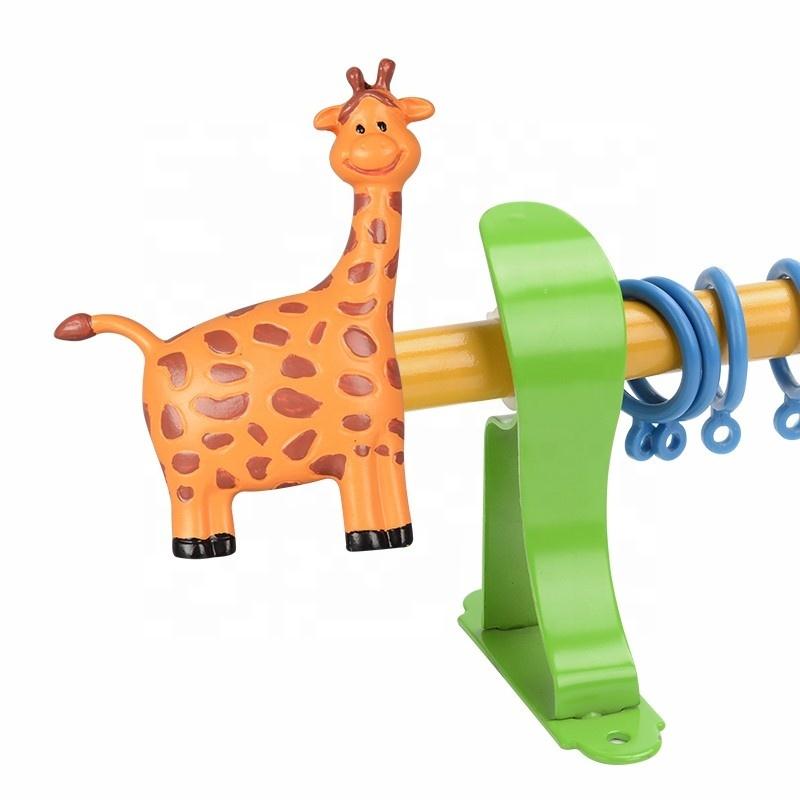 Cute Animal Resin Decorative Kids Curtain Rods