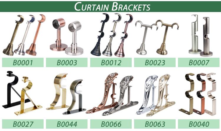 Curtain accessories decorative resin flower finial curtain rod