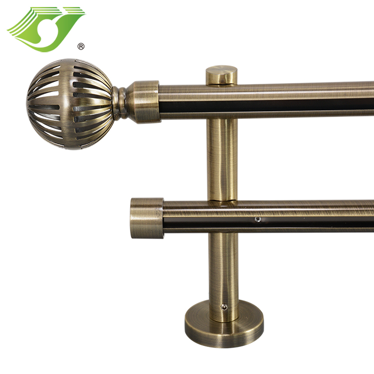 Round aluminum profile with curtain accessories new design wholesale aluminum curtain track sets for home decoration
