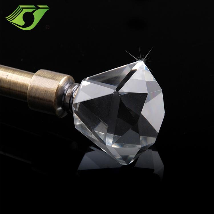 Hot selling elegant wholesale crystal finials curtain rod