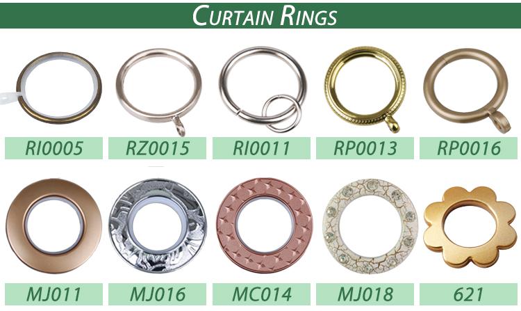Custom luxury resin finials decorative curtain fittings rod