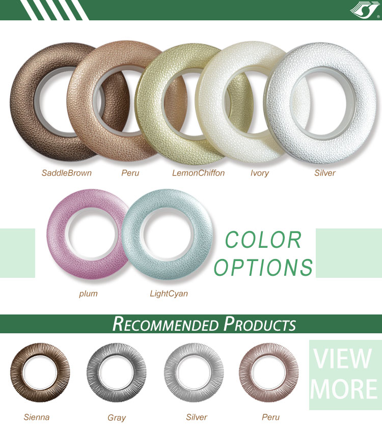Wholesale plastic curtain accessories decorative curtain eyelet ring 40mm ABS material factory price