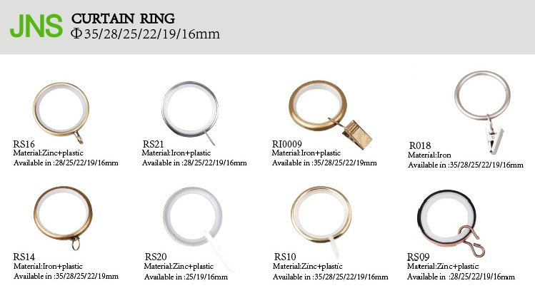 Amazon Black Metal Curtain Rings With Clips And Eyelets drapery Rings