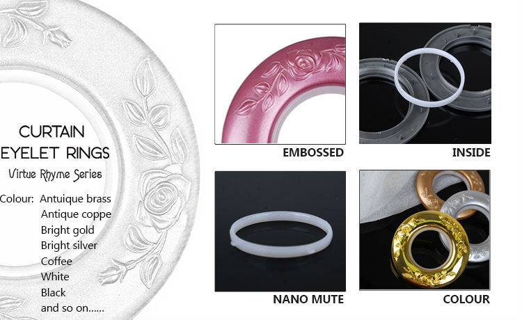 STARDECO Production Wholesale curtain accessories colorful wear durable plastic curtain ring eyelet