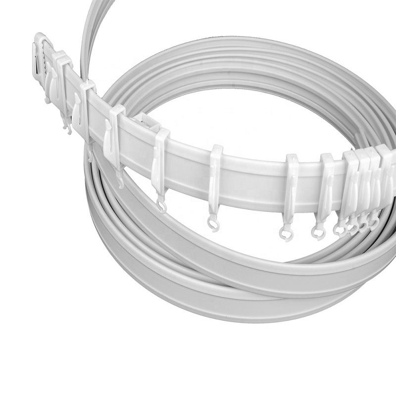 JNS Bendable PVC Universal Curtain Track Rails