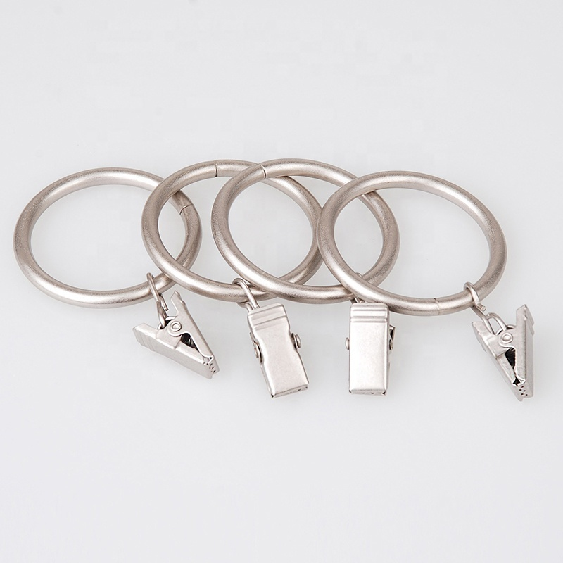 Stardeco Wholesale Metal Curtain Rings With Clips And Eyelets drapery Rings