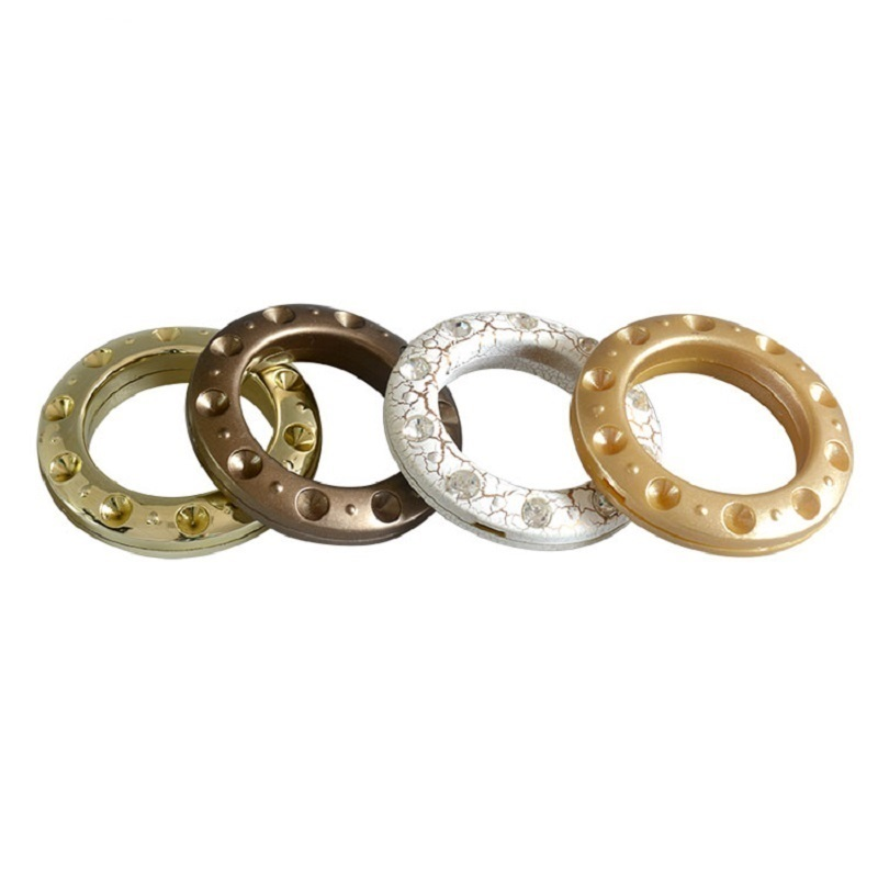 Modern design colorful curtain ring plastic curtain rod eyelets