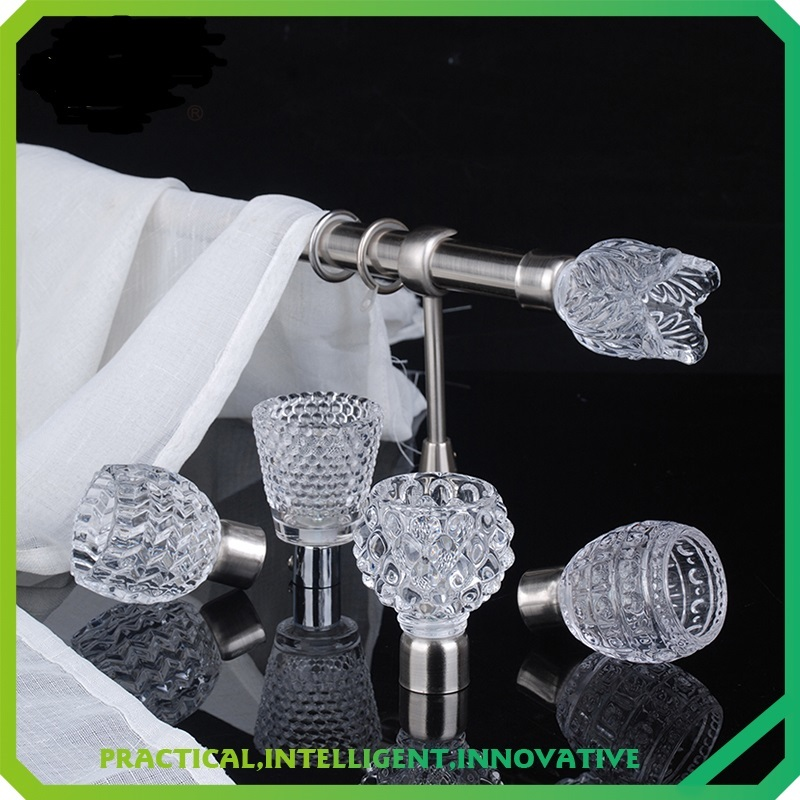 Stardeco fashion drapery crystal finial stainless steel curtain rod