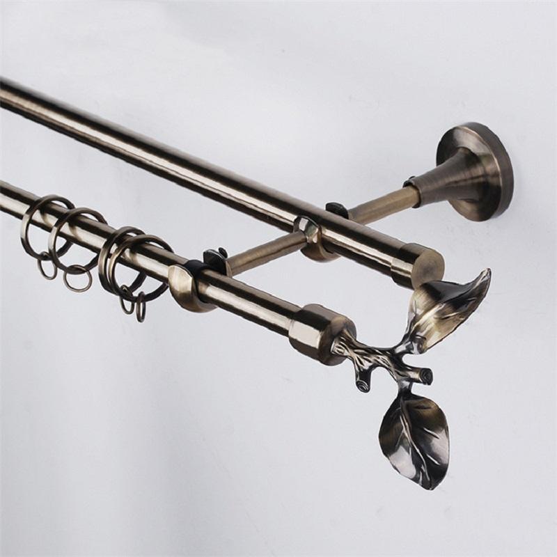 JNS 16mm european style metal curtain rods set