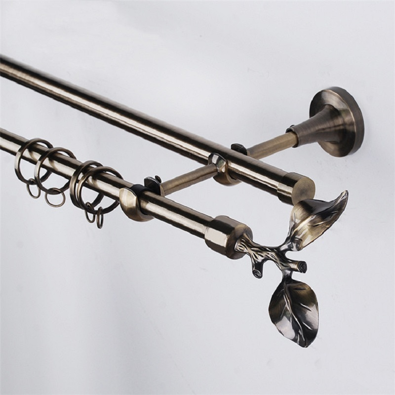 JNS 16mm european style metal curtain rods set
