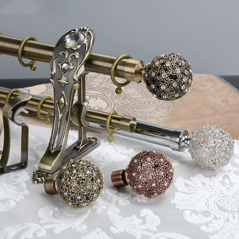28mm Luxury single and double curtain pole wholesale ODM manufacturer