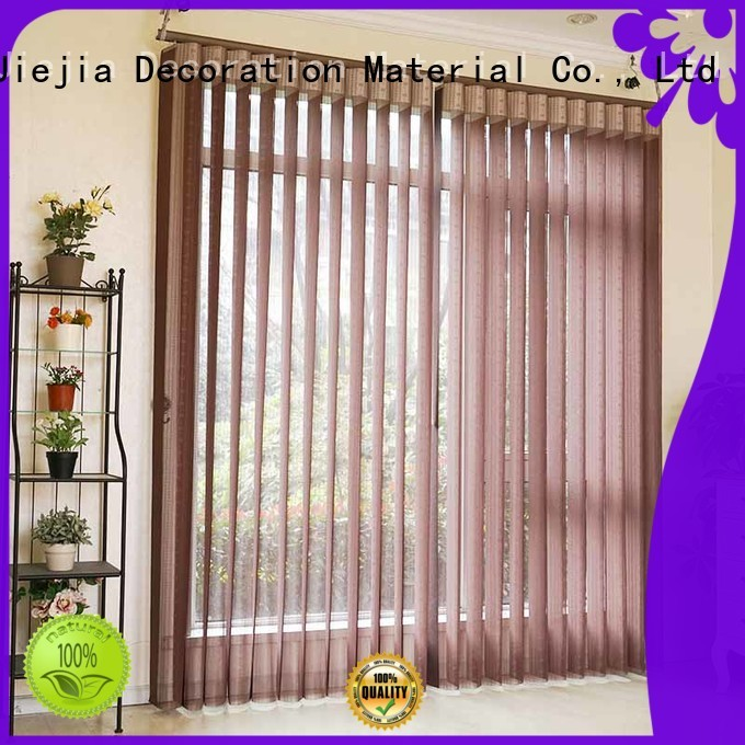 Jiejia fabric vertical blinds for patio door manufacturers