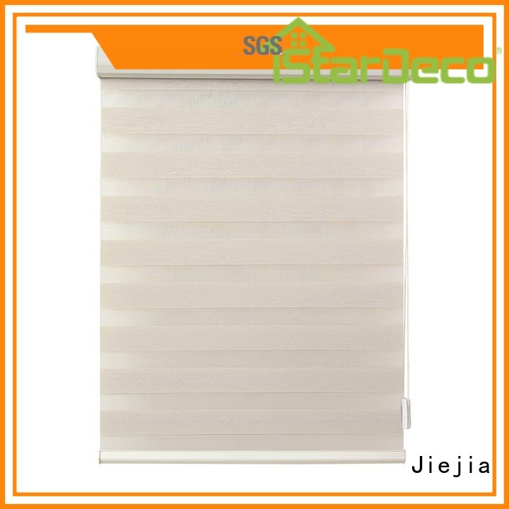 Jiejia wholesale zebra shade blinds double Layer house