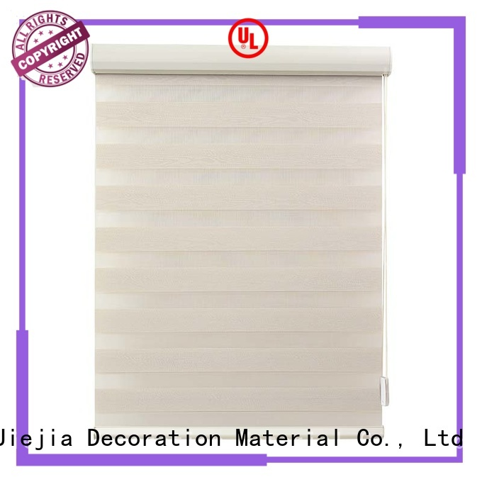 Jiejia oem zebra window blinds anti-uv office