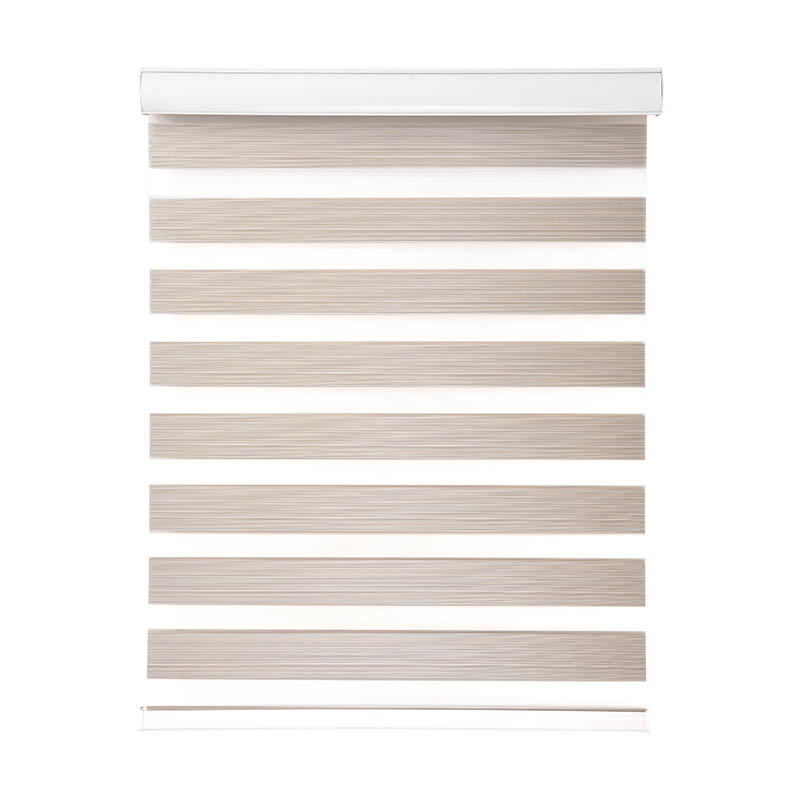 Jiejia double-layer blackout zebra blinds flameproof restaurant-3