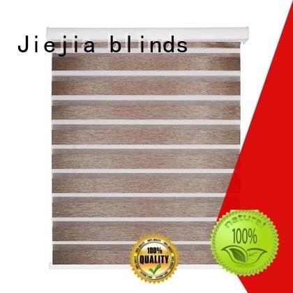 Jiejia blackout zebra blinds flameproof restaurant