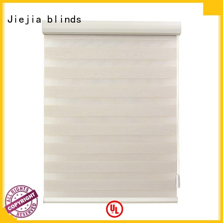 Jiejia oem zebra shade blinds waterproof room